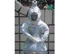 埴輪[はにわ]の置き物 皮カブト [H57cm]