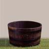 ウイスキー樽プランター 椀型 70cm (CH-GB-7240)