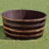 ウイスキー樽プランター 椀型 90cm (CH-GB-9545)